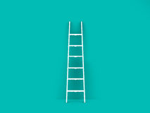Single Ladder in Empty Room Stock Photography