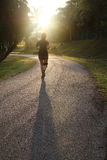Single lady jogging in the morning - Series 2 Royalty Free Stock Photo