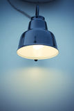 Single Lamp at wall Stock Image