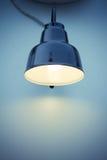 Single Lamp at wall Stock Image