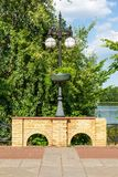 Single lantern on the embankment Royalty Free Stock Images