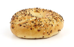 Single Large Bagel Royalty Free Stock Photo