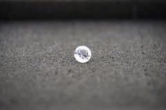 Single large diamond on a sponge holder Stock Image