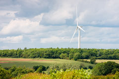 Single large wind turbine Stock Photography