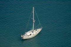 Single large yacht royalty free stock image
