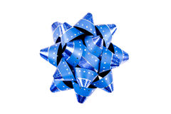Single Lavy Blue Christmas Bow Royalty Free Stock Photography