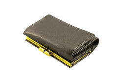 Single leather wallet Stock Image