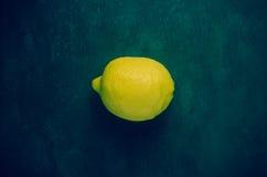 Single lemon Royalty Free Stock Photos