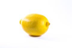 Single Lemon White Background Bright Yellow Fruit Fresh Food. Single Lemon White Background Bright Yellow Fruit Fresh Stock Photography