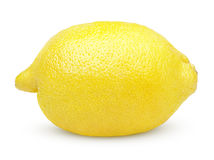 Single lemon on white Stock Photography