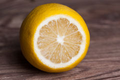 Single lemon Stock Photography