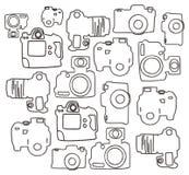 Single lens camera doodle Stock Photo