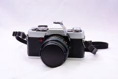 Single Lens Reflex 35mm roll film camera Royalty Free Stock Photo