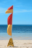 Single lifesaving flag Stock Image