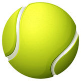 Single light green tennis ball Royalty Free Stock Images