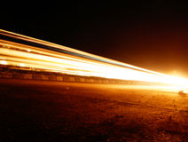 Single Light Trail Royalty Free Stock Image
