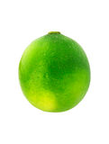 Single lime isolated on white background. Royalty Free Stock Image