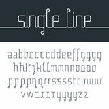Single line font Royalty Free Stock Photos