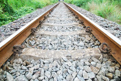 Single line railway Stock Image
