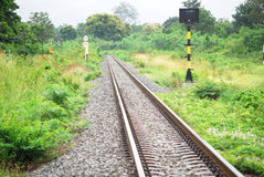 Single line railway Royalty Free Stock Photos