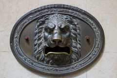 Lion low relief Royalty Free Stock Photography