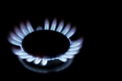 Single lit gas ring Royalty Free Stock Image