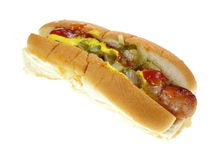 Single Loaded Hot Dog Royalty Free Stock Photo