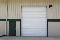 Single loading dock for trucks Stock Photography