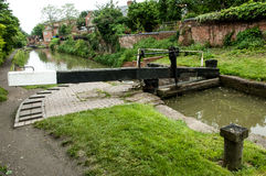 Single lock on a English Midlands canal Stock Images