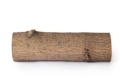 Single log. Laying on a white Stock Images