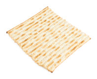 Single machine made matza flatbread Royalty Free Stock Photos