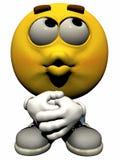 Single Male Emoticon. Isolated on White Royalty Free Stock Photo