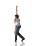Single male tap dancer Stock Images