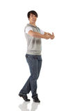 Single male tap dancer royalty free stock photography