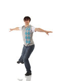 Single male tap dancer stock image