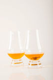 Single malt tasting glass with scorpion, single malt whisky in a Stock Image