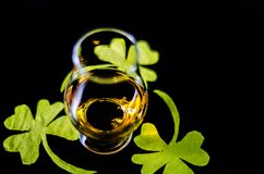 Free Single Malt Whisky In A Glass Of Tasting With Decoration For St. Stock Image - 112069871
