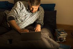 Single man and his evening Stock Photography