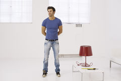 Single man at home Stock Photography
