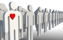 Single man in love Stock Photos