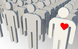 Single man in love Royalty Free Stock Photography