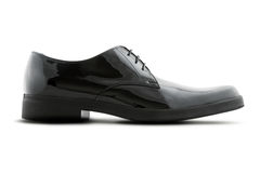 Single man's black shoe Royalty Free Stock Images