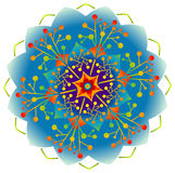 Single Mandala - Rainbow Colors Royalty Free Stock Photos