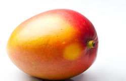 Single mango fresh juicy ripe tropical fruit. Single whole mango fresh juicy ripe tropical fruit Royalty Free Stock Images