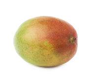 Single mango fruit isolated. Single ripe mango fruit isolated over the white background Royalty Free Stock Images