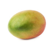 Single mango fruit isolated. Single ripe mango fruit isolated over the white background Royalty Free Stock Image