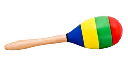 A single maraca. (percussion instrument from Mexico royalty free stock photo