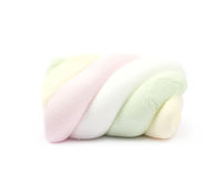 Single marshmallow candy Royalty Free Stock Photo