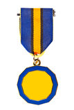 Single medal. Medal isolated on white background stock photo