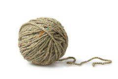 Single melange ball of yarn Stock Photos